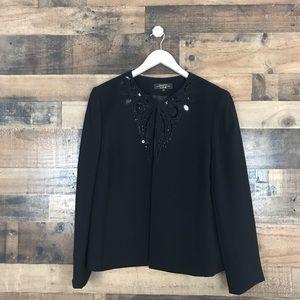 Arthur S. Levine Luxe Black embellished jacket 14